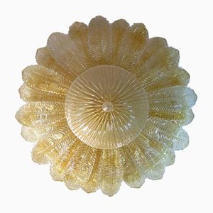 Floral Murano Art Glass Ceiling Lamp from Barovier & Toso, 1983