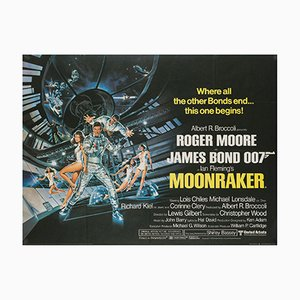 Moonraker UK Quad Film Poster by Daniel Goozee, 1979