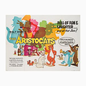 The Aristocats UK Quad Film Poster, 1970