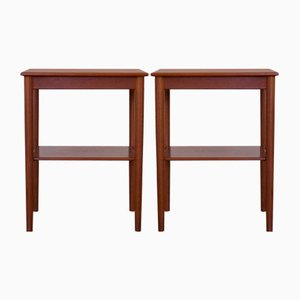 Danish Teak Side Tables or Nightstands from Søborg Møbelfabrik, 1960s, Set of 2