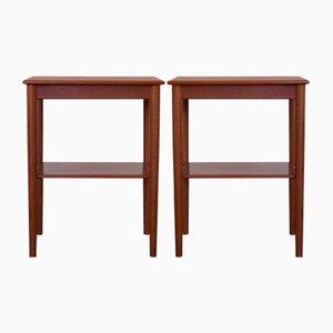 Tables d'Appoint ou Tables de Chevet en Teck de Søborg Møbelfabrik, 1960s, Set de 2
