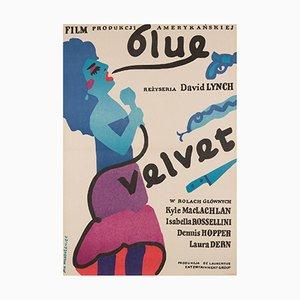 Blue Velvet Film Poster by Jan Mlodozeniec, 1987