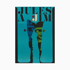 Affiche Jules and Jim par Karel Vaca, 1967