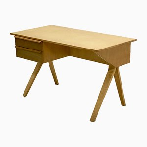 Model EB02 Birch Desk by Cees Braakman for Pastoe, 1950s