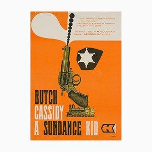 Affiche Butch Cassidy & The Sundance Kid par Paul Stanner, 1970