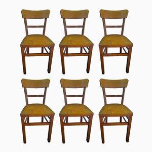 Esszimmerstühle von Nicolaus Mathieu, 1940er, 6er Set