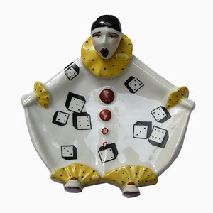 Vide Poche Pierrot Vintage en Céramique de Henri Delcourt