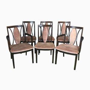 Esszimmerstühle aus Teak, 1970er, 6er Set