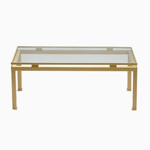 Brass Coffee Table by Guy Lefevre for Maison Jansen, 1970s
