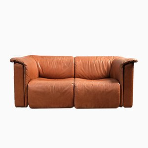 Leather Sofa by Karl Wittmann for Wittmann Möbelwerkstätten, 1970s