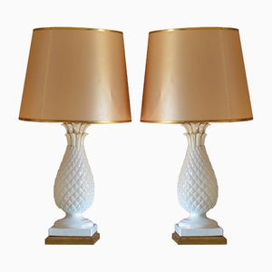 Spanish Ceramic Lamps, 1950s, Set of 2