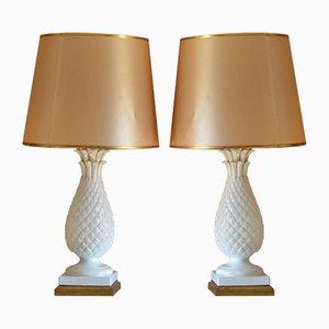 Spanish Ceramic Lamps, 1960s, Set of 2