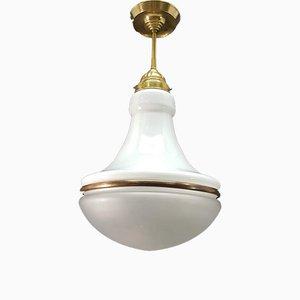 Lampe à Suspension Antique par Peter Behrens pour AEG