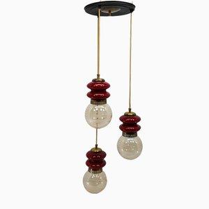 Lámpara colgante con 3 luces, años 70