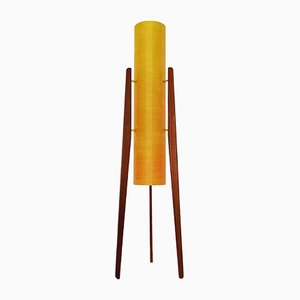 Fiberglass & Teak Rocket Floor Lamp from Novoplast, 1960s
