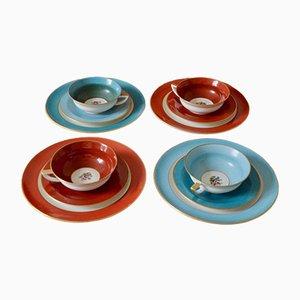 Vintage Limoges Porcelain Tea Service by A. Lanternier