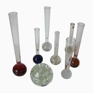 8 Vasen & Briefbeschwerer aus Kristallglas von Alsterfors & Ekenäs, 1970er
