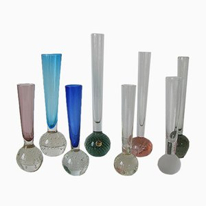 Vases Multicolore en Cristal de Verre de Alsterfors & Ekenäs, Set de 8