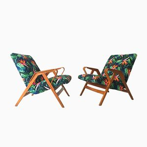 Vintage Lounge Chairs from Tatra Nabytok, 1960s, Set of 2