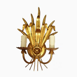 Hollywood Regency Wheat Sheaf Sconce, 1970s