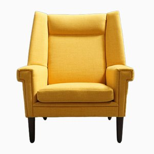 Large Yellow Club Chair, 1960s