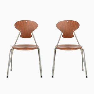 Dänische Vintage Stühle von Steen Eiler Rasmussen & Kai Lyngfeldt Larsen für Danbork, 2er Set