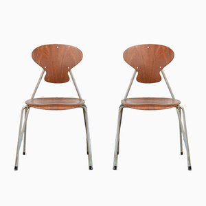 Vintage Danish Chairs by Steen Eiler Rasmussen & Kai Lyngfeldt Larsen for Danbork, Set of 2