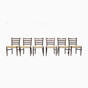 Rosewood Dining Chairs by Johannes Andersen for Schou Andersen, 1960s, Set of 6