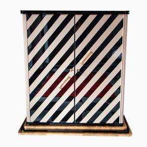 Vintage Zebra Bar Cabinet, 1930s