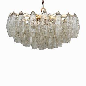 Lámpara de araña Mid-Century de Carlo Scarpa para Venini, años 50