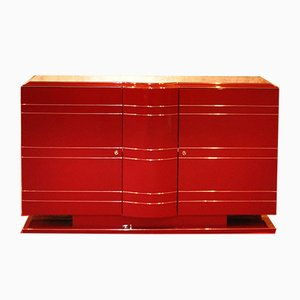 Red & Chrome Commode, 1930s
