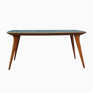 Ash & Green Vetrolite Dining Table, 1950s