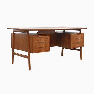Vintage Danish Model 75 Teak Desk from Omann Jun