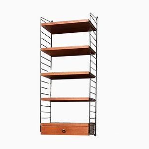 Teak Veneer Laddered Shelving System by Kajsa & Nils Strinning for String, 1960s