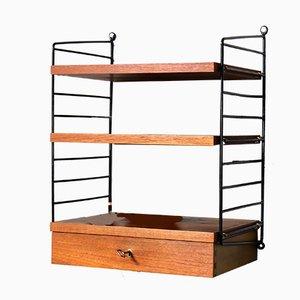 Teak Veneer Laddered Shelving System by Kajsa & Nils Strinning for String, 1960s