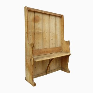 19th Century English Pine Settle Bench