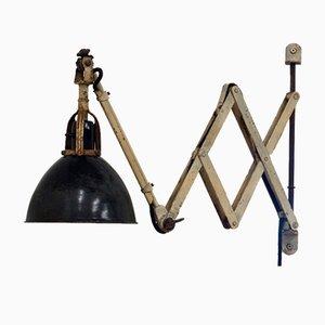 Vintage Scheren-Wandlampe von Curt Fischer für Midgard
