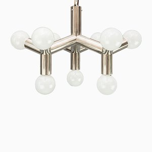 Nickel Atomic Ceiling Lamp by J.T. Kalmar, 1970s