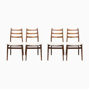 German Walnut Chairs from Casala, 1960s, Set of 4