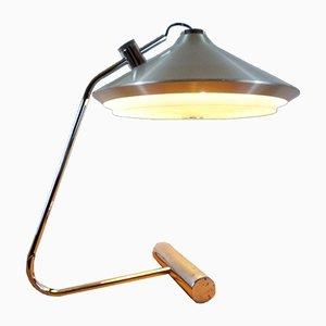 Lámpara a contrapeso grande cromada, años 70