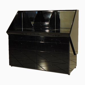 Black Lacquered Sekos Secretaire by Luigi Sormani, 1983