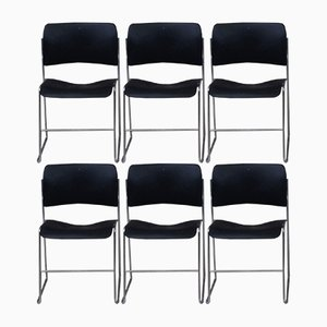 Vintage 40/4 Desk Chairs by David Rowland, 1960s, Set of 6