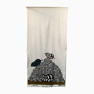 Tessuto stampato Fernand di Concetto Pozzati per Expansion Design, anni '70