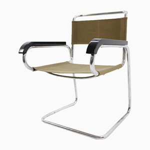 Bauhaus H-80 Chrome Chair by Jindřich Halabala for UP Závody, 1930s