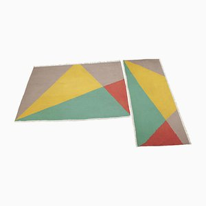 Mid-Century Geometric Rugs, 1958, Set of 2