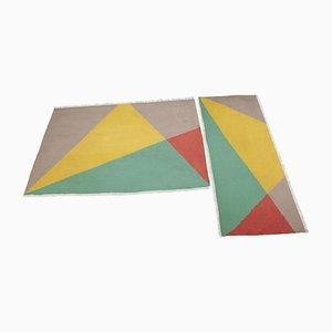 Tappeti Mid-Century geometrici, 1958, set di 2