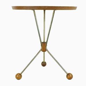 Teak Veneered Side Table, 1950s