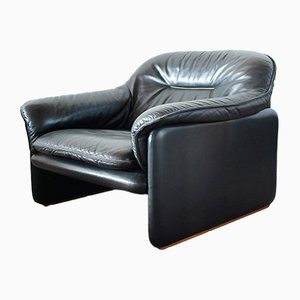 Vintage DS 16 Lounge Chair in Black Leather from de Sede