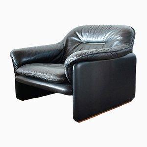 Vintage DS 16 Sessel aus schwarzem Leder von de Sede