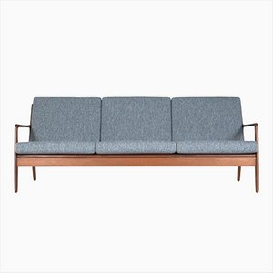 Mid-Century Danish Afromosia 3-Seater Sofa by Arne Vodder for Sibast, 1960s